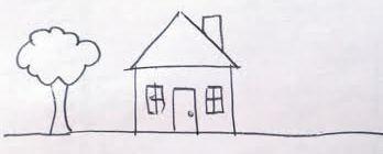 hand drawn house, children art